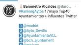 El perfil corporativo de Twitter del Ayuntamiento de Totana se cuela, por vez primera, en el TOP-40 de las cuentas más influyentes de ayuntamientos de toda España