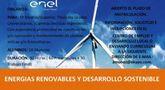 Todavía quedan plazas en el Curso de Energías Renovables y Desarrollo Sostenible, organizado por la Concejalía de Desarrollo Económico y la empresa 'Enel Green Power'
