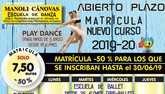 La Escuela de Danza Manoli Cánovas abre el plazo de matrícula para el curso 2019-20