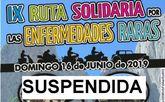 Se suspende la Ruta solidaria por las enfermedades raras que iba a tener lugar el próximo 16 de junio entre Totana y María
