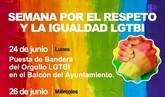 La Concejalía de Mujer e Igualdad organiza varias actividades con motivo de la Semana por el Respeto y la Igualdad LGTBI