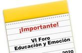 Ya hay fecha para el VI Foro Educaci�n y Emoci�n