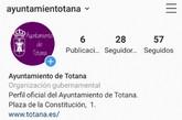El Ayuntamiento de Totana abre una cuenta oficial en Instagram