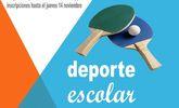 La Fase Local de Tenis de Mesa de Deporte Escolar se celebrar� el pr�ximo s�bado 16 de noviembre