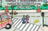 El parque de la Constitución acogerá una jornada infantil de educación vial sobre seguridad