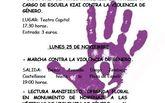 25 de noviembre, marcha contra la violencia de género