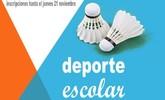 El próximo sábado 23 de noviembre tendrá lugar la Fase Local de Bádminton de Deporte Escolar