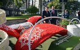 Se inicia el montaje del Gran Árbol, que encenderá la Navidad murciana el sábado 7