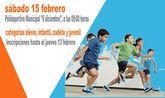 La Fase Local de Atletismo de Deporte Escolar tendr� lugar el pr�ximo s�bado 15 de febrero