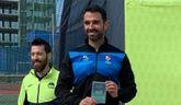 Juan Alberto, del Club Totana Triatl�n, particip� en el 'Reto Mar Menor'