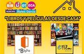 """La Biblioteca Municipal """"Mateo Garc�a"""" te ofrece dos interesantes alternativas para el entretenimiento y la cultura en casa"""