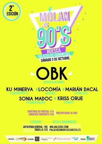 Acceso gratuito para sanitarios de Huesca al concierto MOLAN LOS 90 - 1, Foto 1