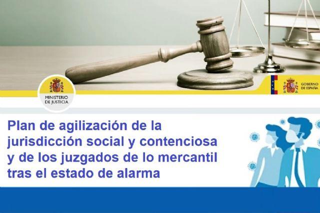El Gobierno pondrá en marcha un plan de agilización de la jurisdicción social y contenciosa y de los juzgados de lo mercantil tras el estado de alarma - 1, Foto 1