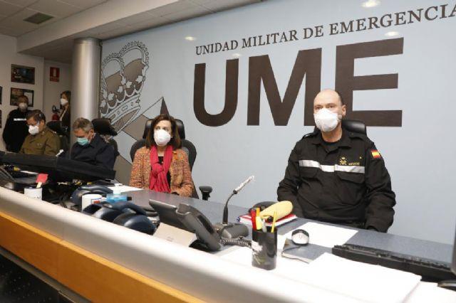 Margarita Robles agradece a la UME su trabajo en la Operación ´Balmis´ - 1, Foto 1