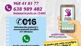 El CAVI ofrece atención de forma telefónica, de lunes a viernes, de 9:00 a 15:00 horas