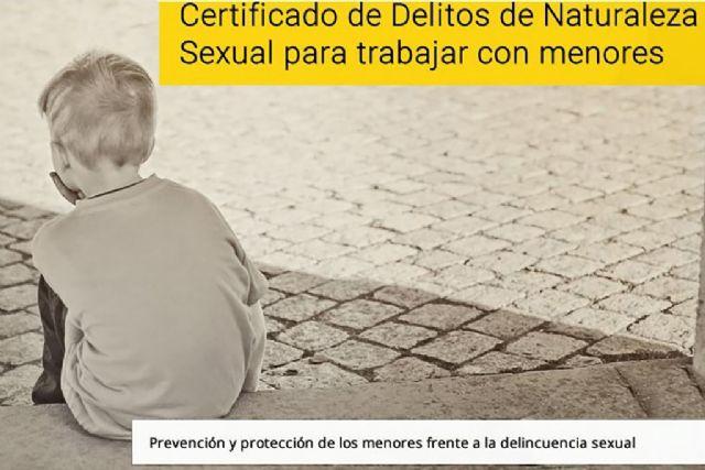 Justicia recuerda la obligación de presentar el certificado de delitos sexuales para las actividades relacionadas con menores - 1, Foto 1