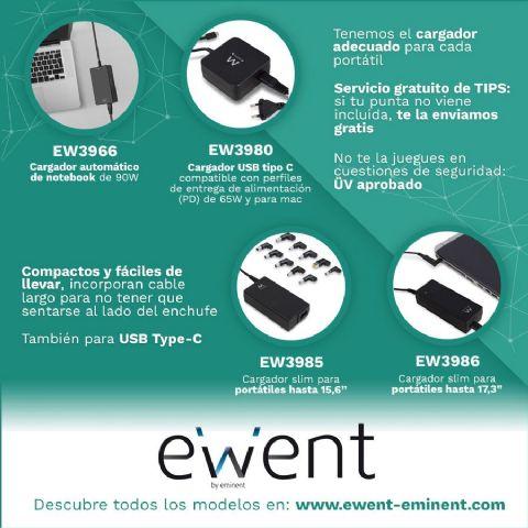 Ewent ofrece consejos para saber elegir el mejor cargador para un ordenador portátil - 1, Foto 1