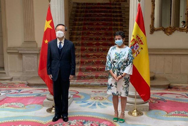 Arancha González Laya se reúne con el Director de la Oficina de Asuntos Exteriores del Comité Central del Partido Comunista de China - 1, Foto 1