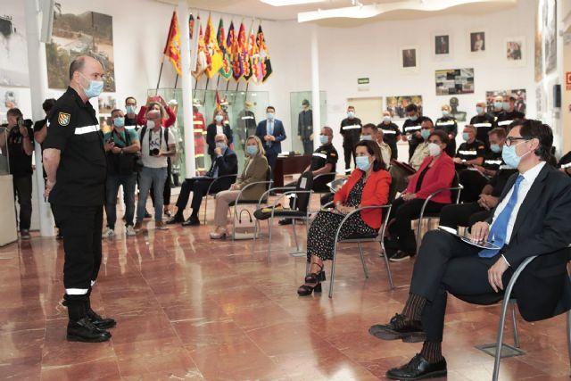 Margarita Robles y Salvador Illa visitan la UME para conocer el sistema de rastreo de los militares - 1, Foto 1