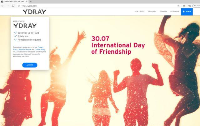 Ydray amplía su servicio gratuito de envío de archivos online hasta los 10 Gb - 1, Foto 1