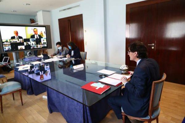 Salvador Illa mantiene un encuentro con sus homólogos de la Unión Europea - 1, Foto 1
