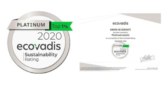 DEKRA obtiene la medalla platinum en la Calificación de Sostenibilidad Corporativa de EcoVadis - 1, Foto 1