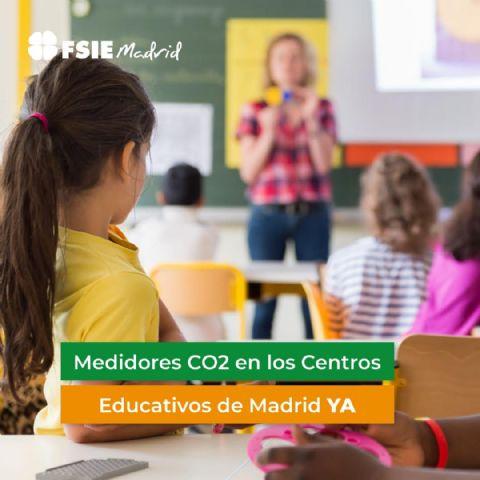 FSIE Madrid denuncia que no han llegado medidores de CO2 a los colegios concertados - 1, Foto 1