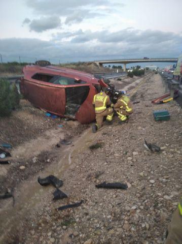 Trasladan al hospital a dos heridos en accidente de tráfico en Librilla - 1, Foto 1