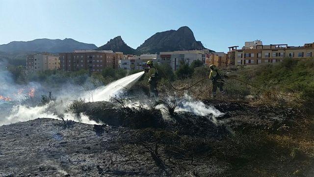 Incendio de vegetación junto al casco urbano - 1, Foto 1