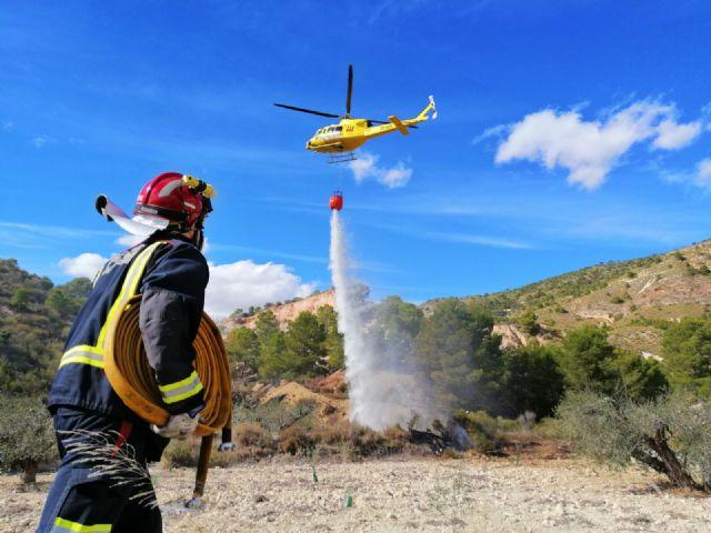 Conato de incendio forestal declarado junto al embalse del Mayés, en Ojós - 1, Foto 1