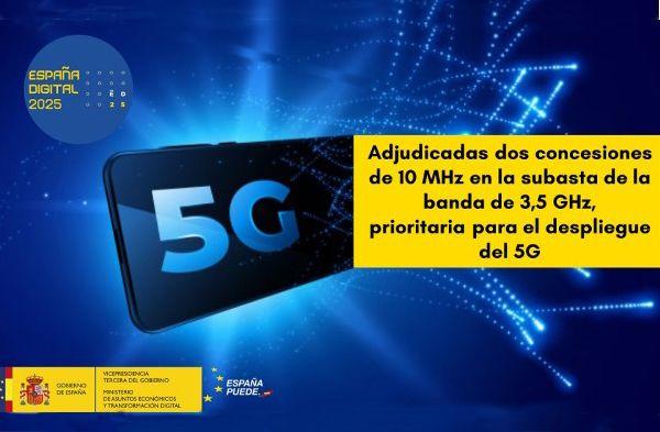 Adjudicadas dos concesiones de 10 MHz a Telefónica y Orange en la subasta de la banda de 3,5 GHz, una de las bandas prioritarias para el despliegue de redes 5G - 1, Foto 1