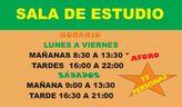 La Sala de Estudio del Centro Sociocultural 'La Cárcel' retoma su horario habitual de mañanas y tardes