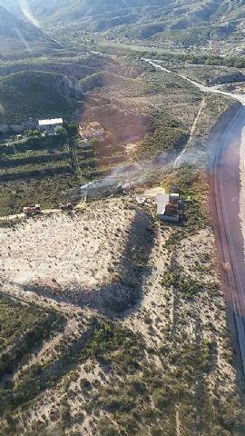 Efectivos del Plan Infomur dan por extinguido el incendio forestal declarado en Abarán - 1, Foto 1