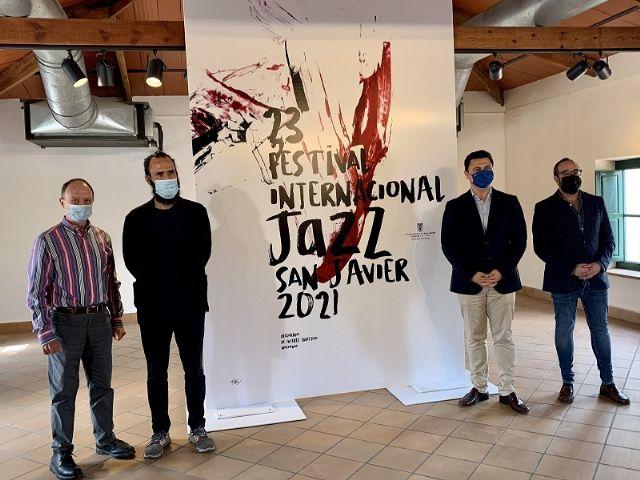 El diseñador Jorge Martínez recurre a la obra del pintor Luis Feito para reflejar la música jazz en su cartel para el 23 Festival Internacional de Jazz de San Javier - 1, Foto 1