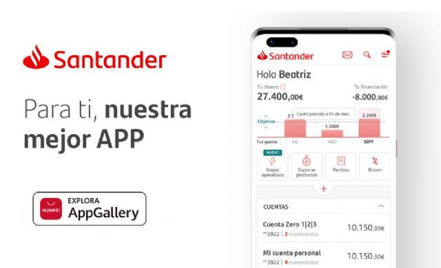 La app de Santander aterriza en AppGallery ampliando la categoría en la categora de finanzas - 1, Foto 1