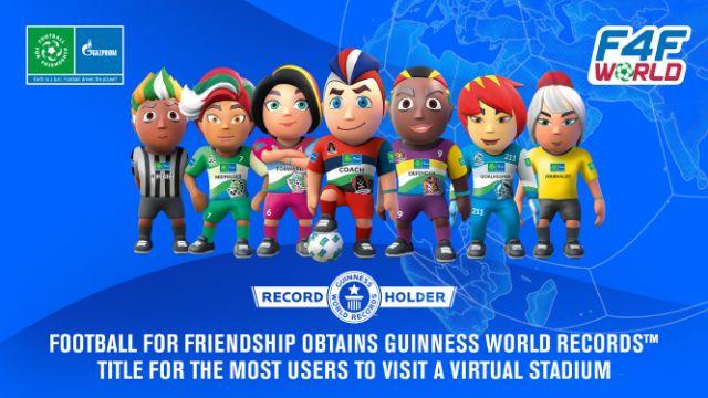 Football for Friendship establece un nuevo récord GUINNESS WORLD RECORDS™ por el mayor número de usuarios de un estadio virtual - 1, Foto 1
