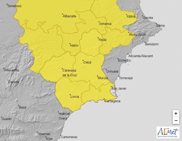 Meteorología advierte de lluvia y tormentas con posibilidad de granizo para mañana
