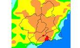 El nivel de riesgo de incendio forestal previsto para hoy lunes es muy alto en casi toda la Regi�n
