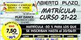 La Escuela de Danza Manoli Cánovas abre el plazo de matrícula para el curso 2021-22