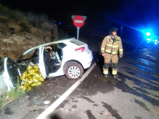 Fallece el conductor de un turismo en un accidente de tráfico ocurrido esta madrugada en Mazarrón, Foto 1