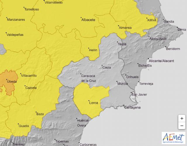 Meteorología advierte de temperaturas hasta 38º el jueves en el Guadalentín, Lorca y Águilas, Foto 1