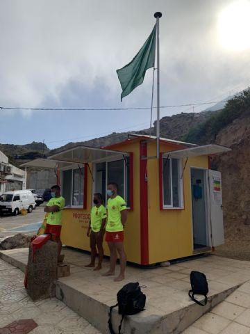 Los puestos de vigilancia de playas del Plan Copla han abierto hoy, miércoles 21, todos con la bandera verde - 1, Foto 1