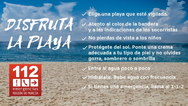 Los puestos de vigilancia de playas del Plan Copla han abierto hoy sábado, 31, con bandera amarilla en 2 playas de La Unión - 1, Foto 1