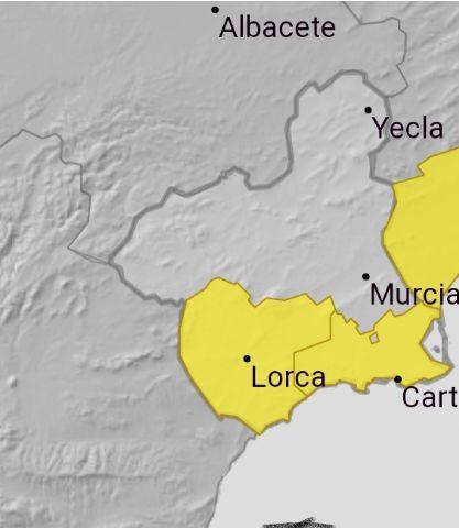 Meteorología emite aviso amarillo de fenómenos meteorológicos adversos por tormentas en la Región de Murcia - 1, Foto 1