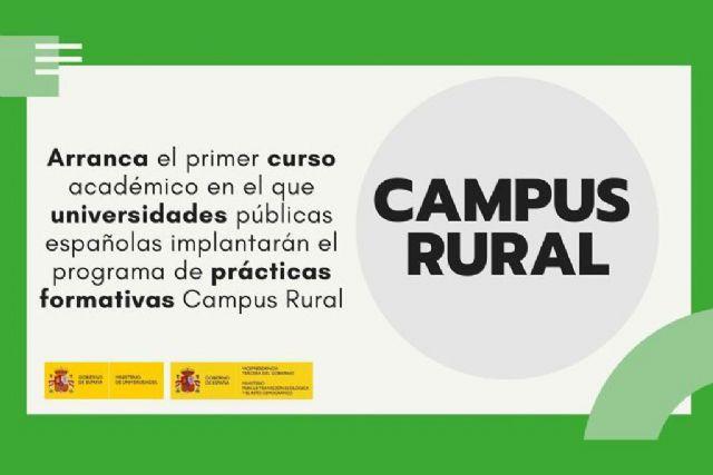 Arranca el primer curso académico en el que universidades públicas españolas implantarán el programa Campus Rural - 1, Foto 1