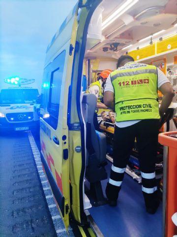 Rescatados y trasladados tres heridos en accidente de tráfico en Miranda (Cartagena) - 1, Foto 1