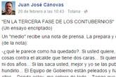 Juan José Cánovas advierte a los 'mafiosos' que extorsionar a un alcalde u otra persona es un delito que puede costar muy caro