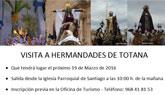 """La Asociación Cultural """"El Cañico"""" organiza una visita a las Hermandades totaneras el próximo 19 de Marzo"""