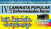 El próximo domingo tendrá lugar en la IV Caminata Popular por las Enfermedades Raras organizada por AELIP