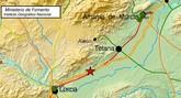 Un terremoto de 3,7 grados próximo a Lorca se deja notar en Totana